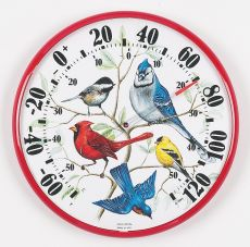Designer Edition 12-1/2 in/Outdoor Songbirds Thermometer