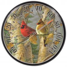 James Hautman 12-1/2 In/Outdoor Cardinals Thermometer