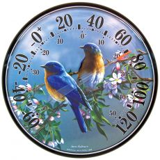 James Hautman 12-1/2 In/Outdoor Bluebird Thermometer