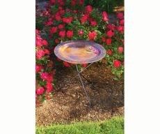 Ivy Birdbath with Copper Plated Bowl