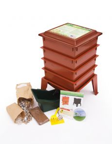 Worm Factory® 360 with Worms (Color: Terracotta)